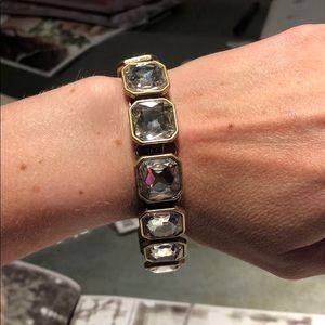 Retro glam square cut crystal bracelet